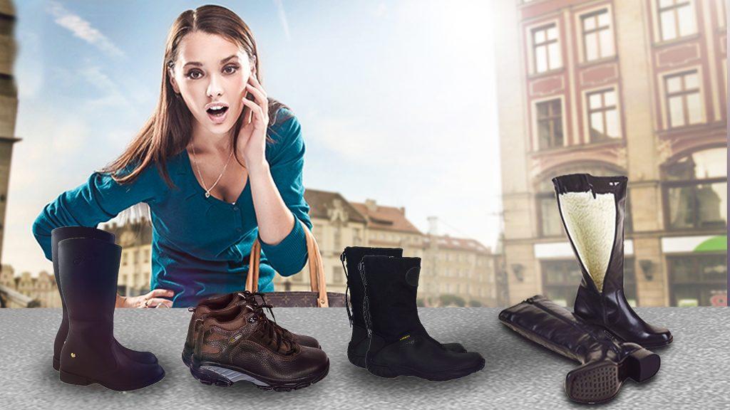 As botas são essenciais para quem vai se encontrar com frio intenso.
