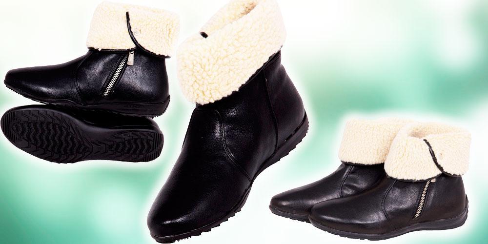 bota feminina forrada com pelo - tche inverno
