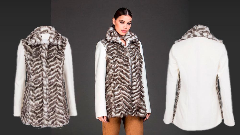casaco enjoy pele fake - tche inverno