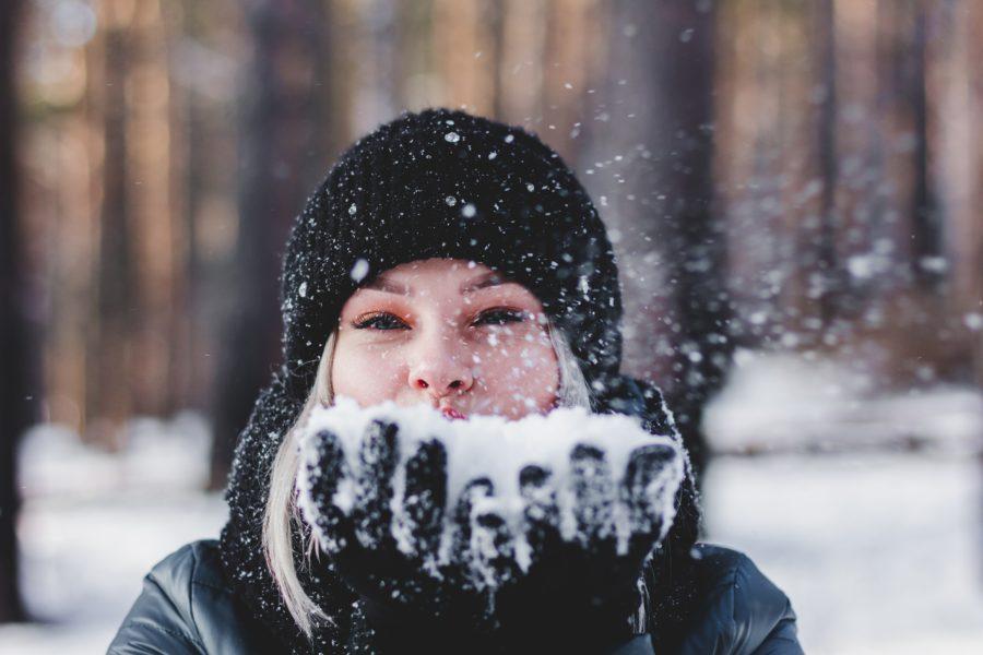 colete no inverno