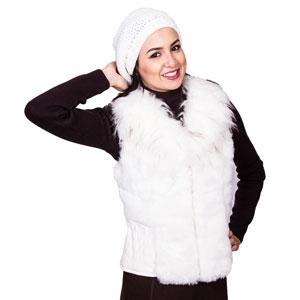 colete pelo branco - tche inverno