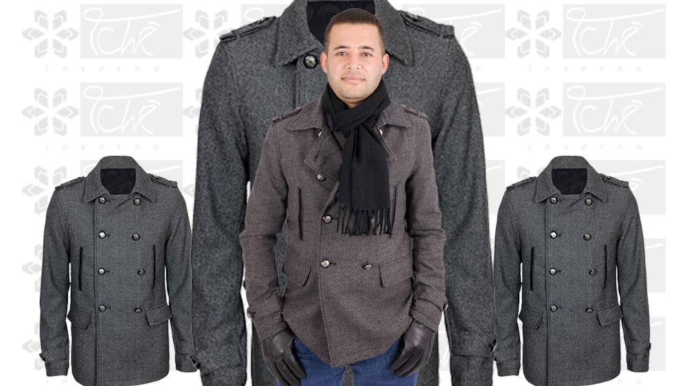 casaco kaban europeu masculino - tche inverno