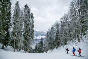 esquiar no gelo